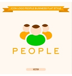 Logo icon group of business people vector