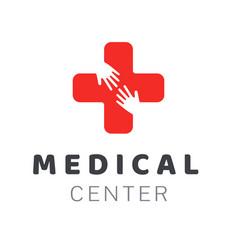 medical center icon logo creative design element vector image