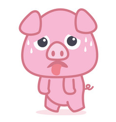 Pig cartoon style collection vector