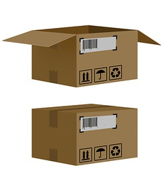 set of boxes isolated on white background vector image