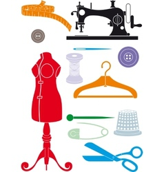 sewing accessories vector image vector image