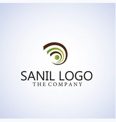 Snail logo ideas design vector