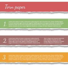 Torn paper banners set vector