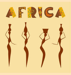 Travel to africa banner vector