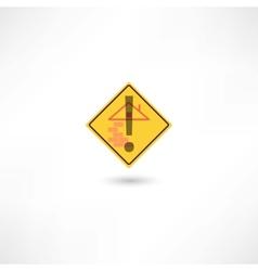 Warning construction vector image