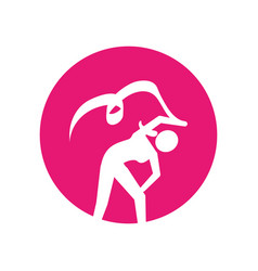 Woman silhouette dancing isolated icon vector