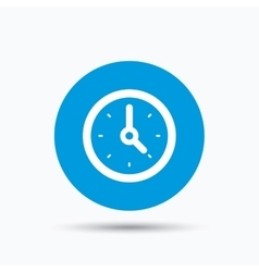 Clock icon mechanical watch sign vector