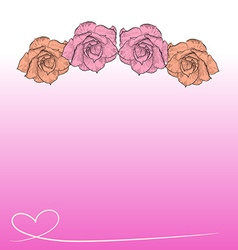 Drawing of desert rose on pink background vector image