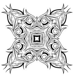 Graphic decorative tattoo design vector