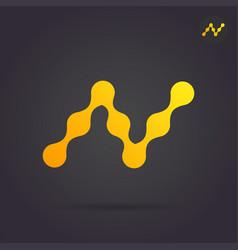 N letter logo connection concept vector
