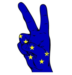 Peace sign of alaska flag vector