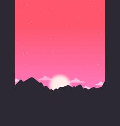 Starry sunrise vector