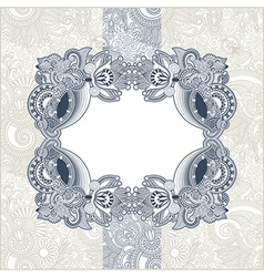 Ornate template with floral background vector