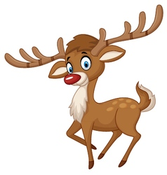 Cute cartoon deer vector