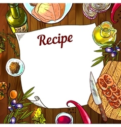 Food recipe vector