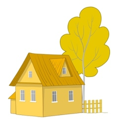 house with a tree vector image