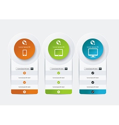 Price list widget with 3 payment plans for online vector
