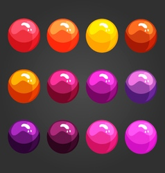 Shiny bubbles vector
