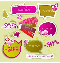 speech bubbles for christmas sale vector image