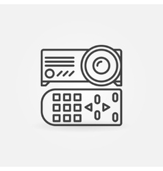 Projector linear icon vector