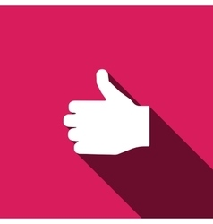 Like icon hand finger sign thumb up symbol vector