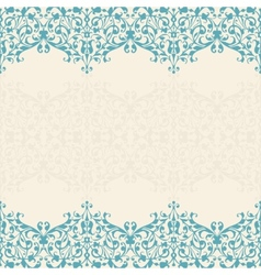 Abstract floral background seamless lace vector image vector image