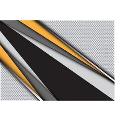abstract yellow gray line black circle mesh modern vector image