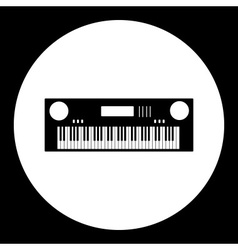 Black isolated simple keyboard musical instrument vector