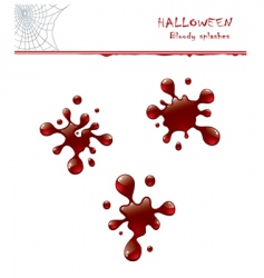 bloody splashes vector image vector image