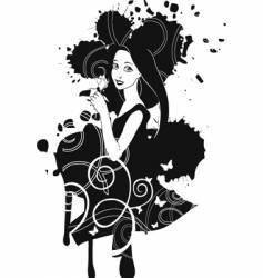 brunette girl vector image vector image