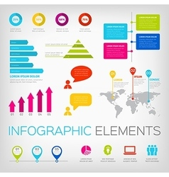 colorful infographics elements vector image