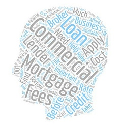 Commercial mortgages in the uk text background vector