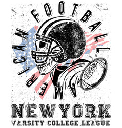 football sport typography t-shirt graphics vector image vector image