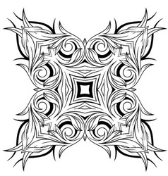 Graphic decorative tattoo design vector