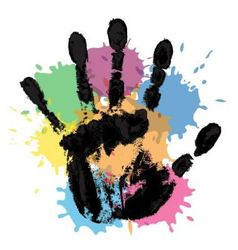 handprint and blots vector image