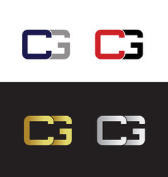 Initials with letter C and letter G vector image vector image