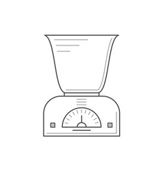 kitchen scales with a deep bowl vector image