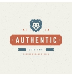 Lion head Design Element in Vintage Style for vector image
