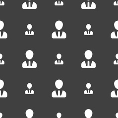 male silhouette icon sign Seamless pattern on a vector image vector image
