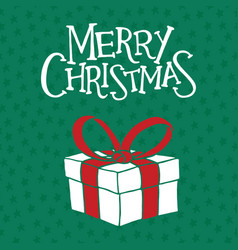 Merry christmas greeting card poster and banner vector