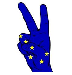 Peace sign of alaska flag vector