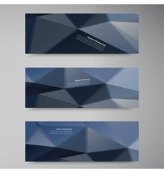 polygon stown set banner 60913 vector image