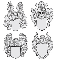 Set of aristocratic emblems no3 vector