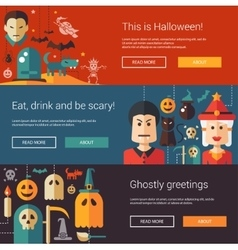Set of Halloween flat design modern vector image vector image