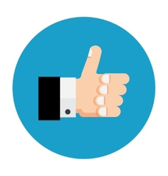Thumb up icon like vector image vector image