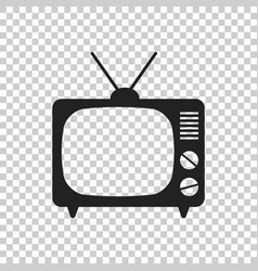 Tv icon in flat style isolated on isolated vector