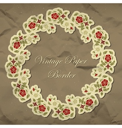 Vintage floral paper border vector image
