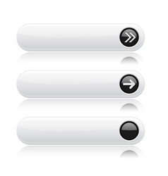 white buttons with black tags and arrows sign vector image vector image