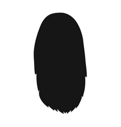 white dissolvedback hairstyle single icon in vector image