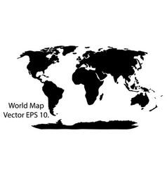 world map earth globe eps 10 vector image vector image